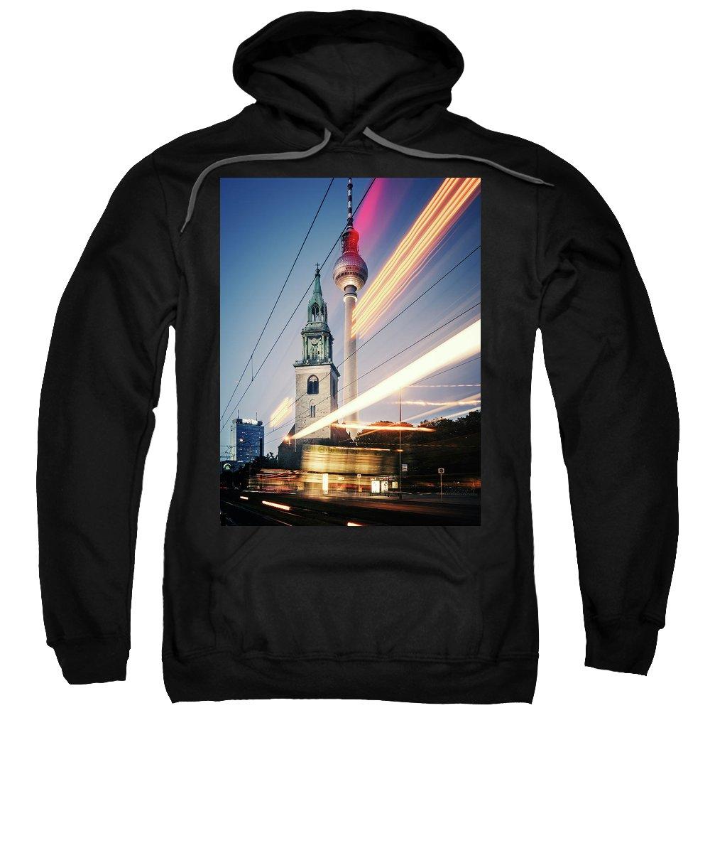 Berlin Sweatshirt featuring the photograph Berlin - Karl-liebknecht-strasse by Alexander Voss