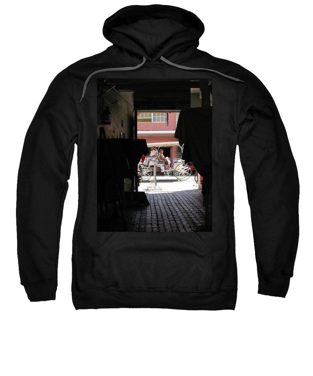 Bermuda Sweatshirt featuring the photograph Bermuda Carriage by Ian MacDonald