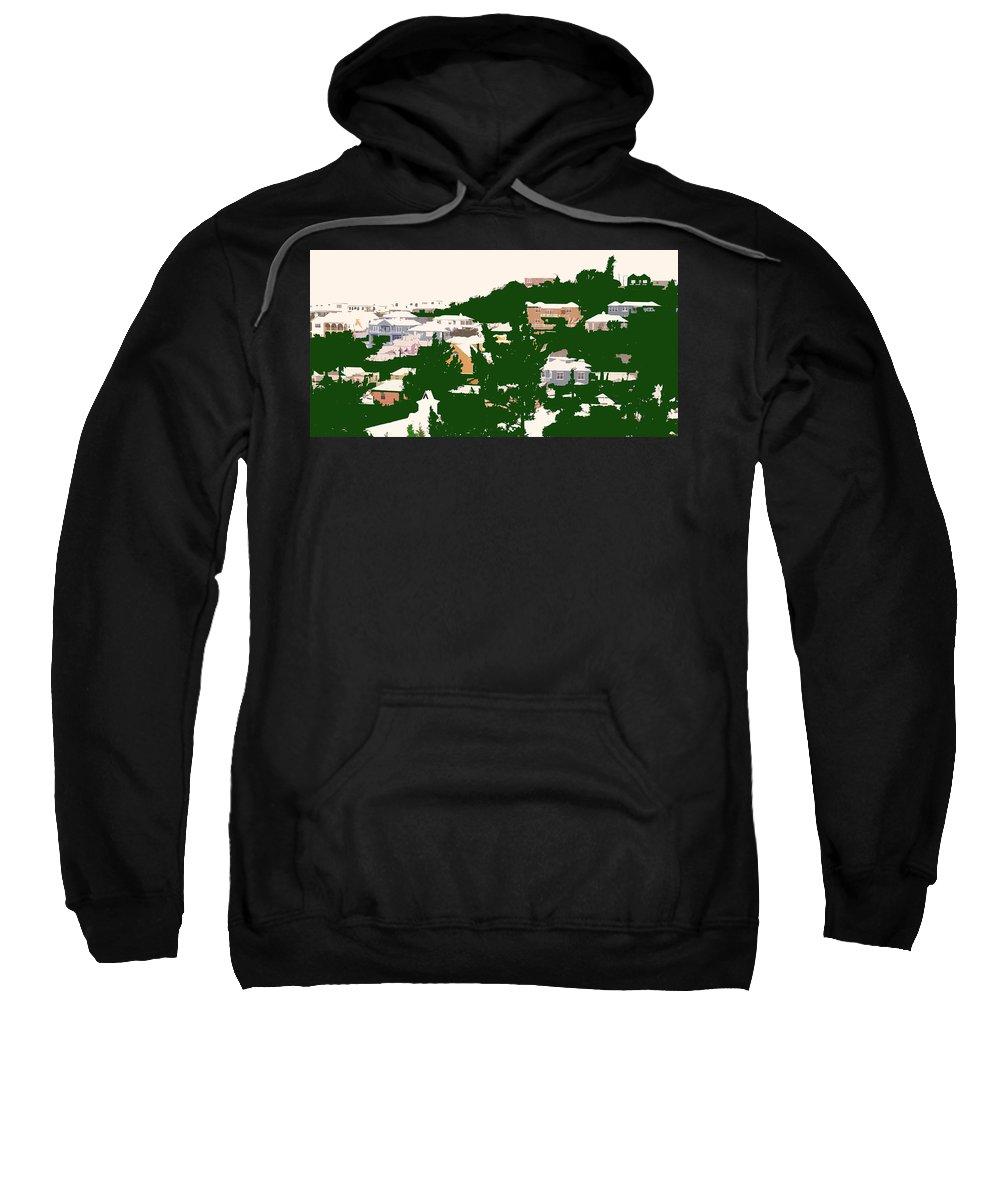 Bermuda Sweatshirt featuring the photograph Bermuda Neighborhood by Ian MacDonald