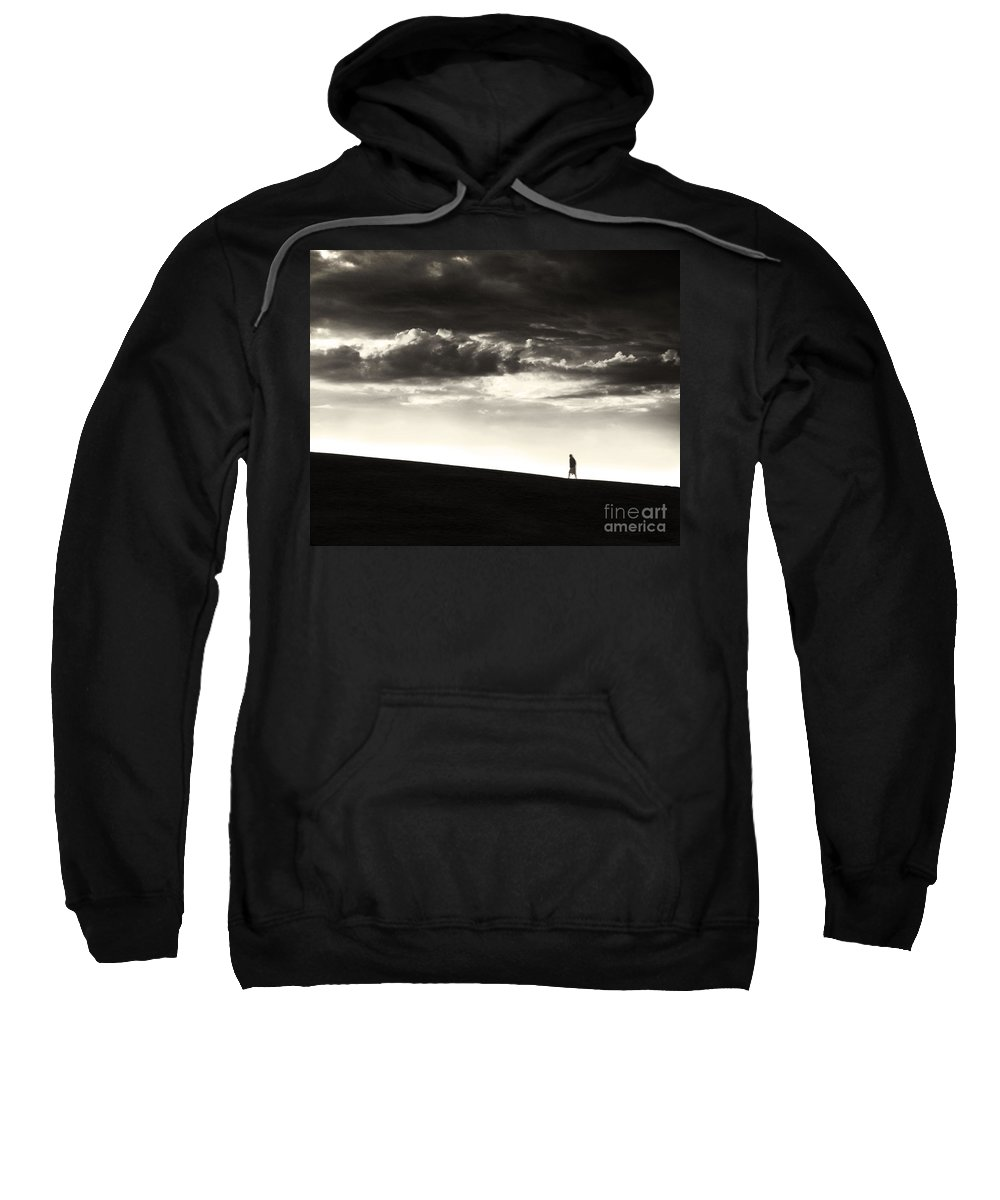 Man Sweatshirt featuring the photograph Between Living And Dying by Dana DiPasquale