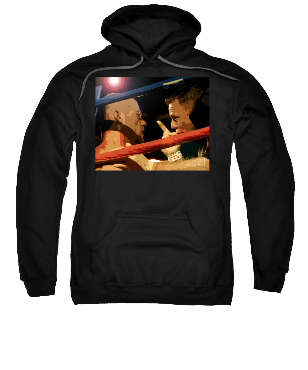 Art Sweatshirt featuring the painting Between Rounds by David Lee Thompson