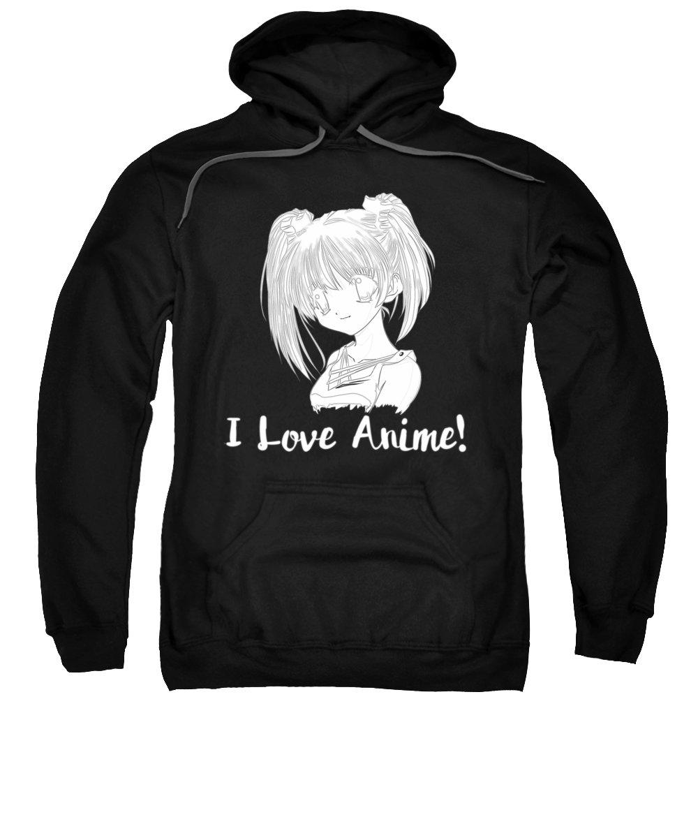 Anime Art Sweatshirt featuring the digital art Bf8b5ead8db848e2 Cartoon Sketch by Kaylin Watchorn
