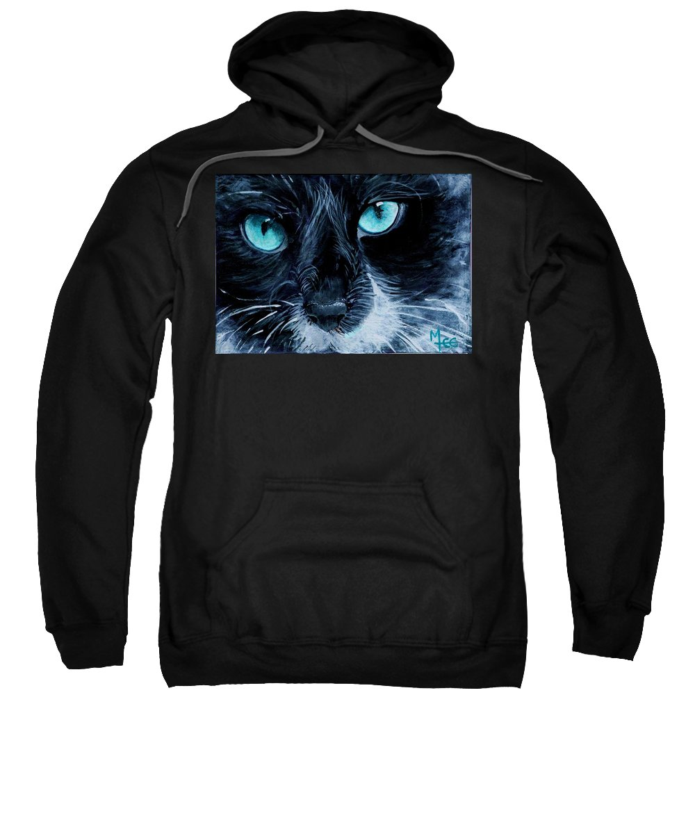 Charity Sweatshirt featuring the painting Big Blue by Mary-Lee Sanders