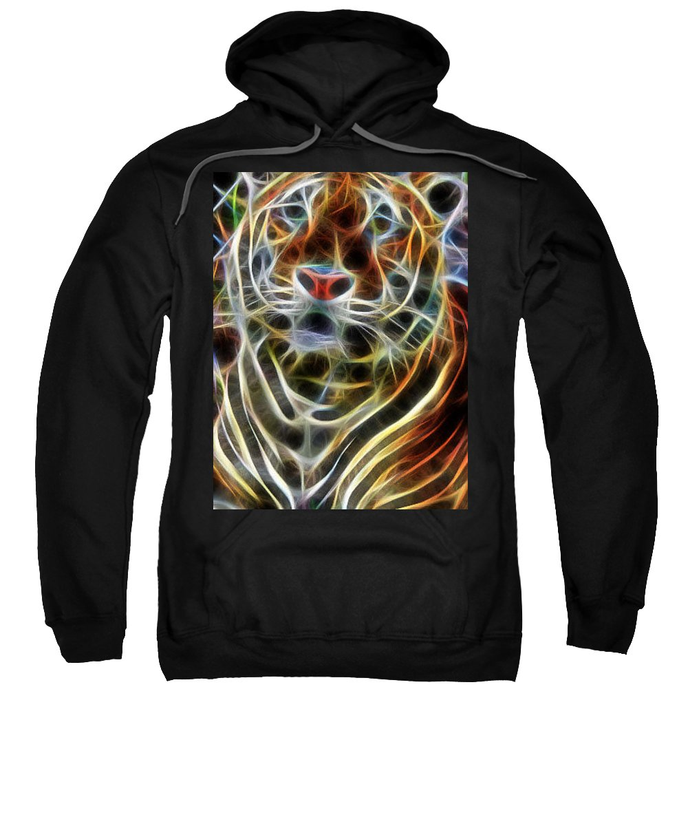 Big Cats Sweatshirt featuring the digital art Big Cats by Sheila Lubeski