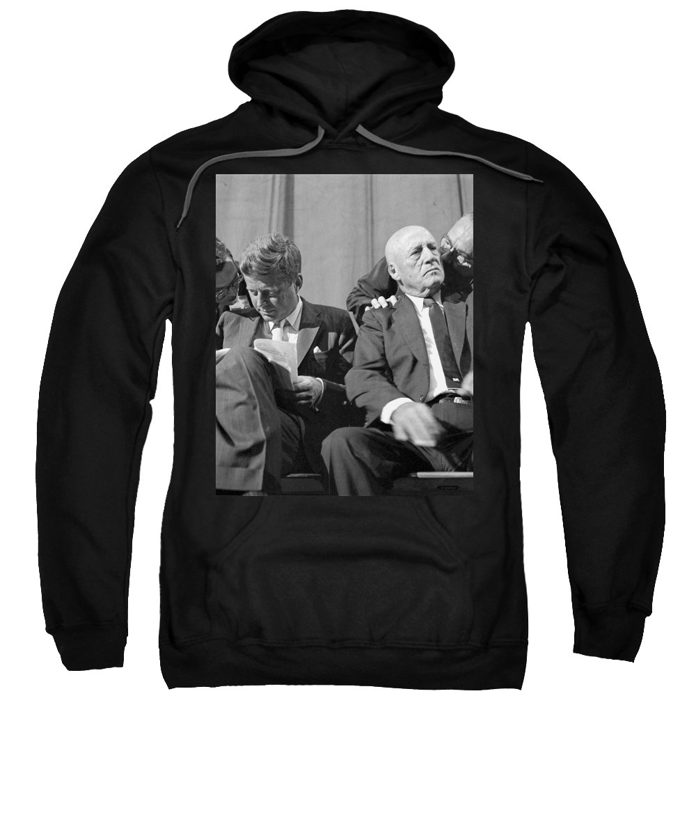 Kennedy Sweatshirt featuring the photograph Big Political Ear by Mazziotta Collection
