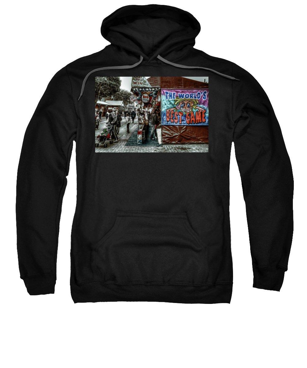 People Sweatshirt featuring the photograph Big Prizes by Wayne Sherriff