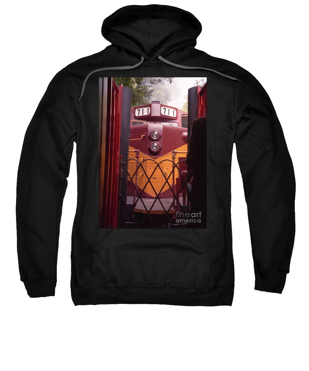 Trains Sweatshirt featuring the photograph Big Red by Richard Rizzo