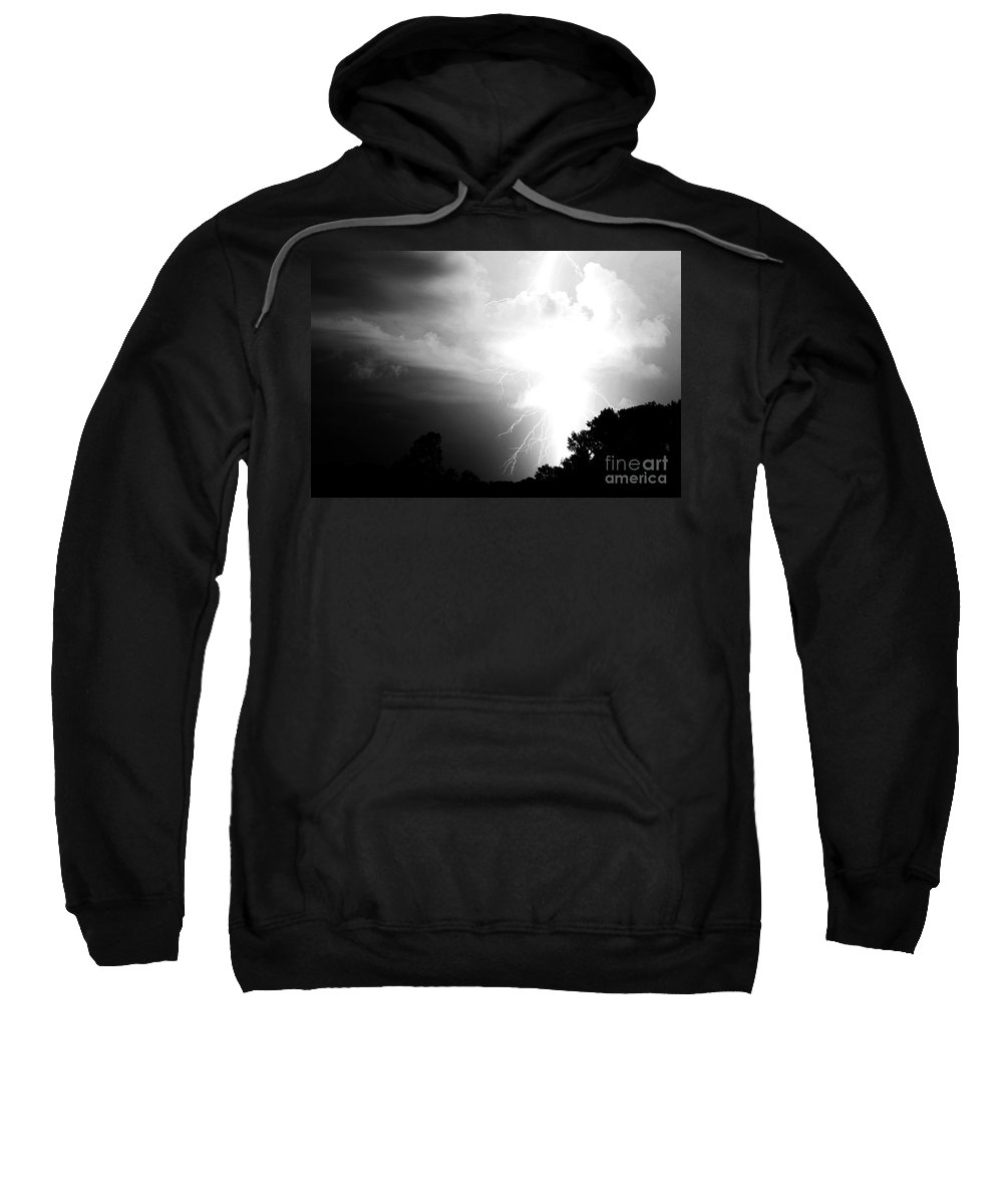 Lightning Sweatshirt featuring the photograph Big Strike by Amanda Barcon