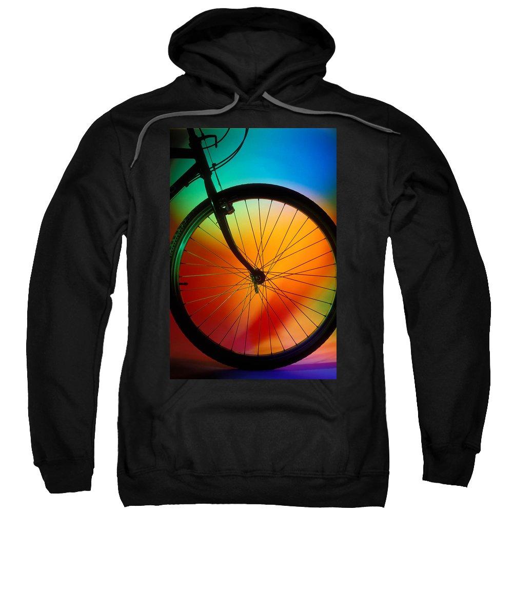 Bike Silhouette Sweatshirt featuring the photograph Bike Silhouette by Garry Gay