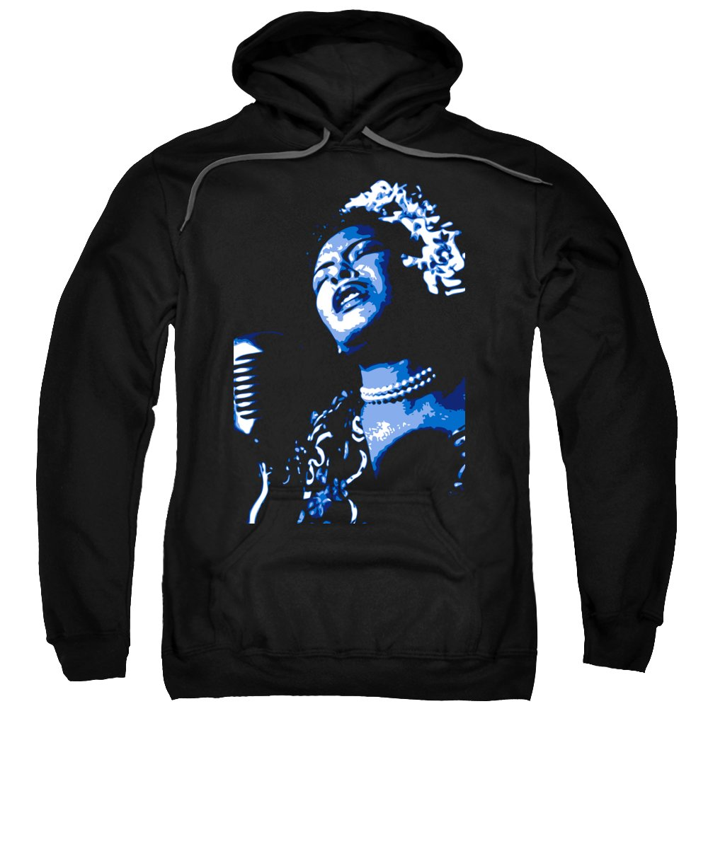 Billie Holiday Sweatshirt featuring the digital art Billie Holiday by DB Artist