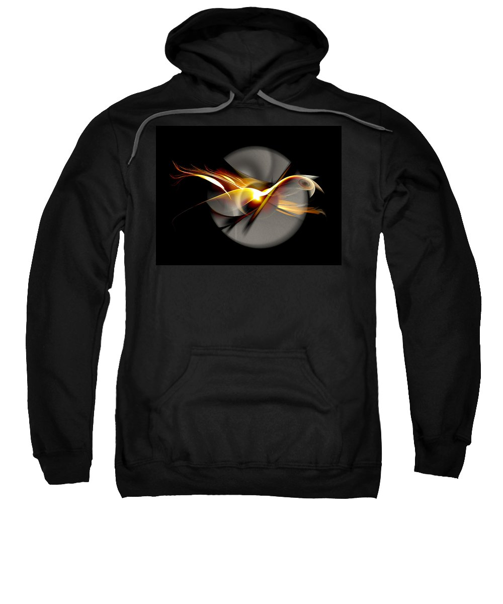 Bird Sweatshirt featuring the digital art Bird of Passage by Aniko Hencz