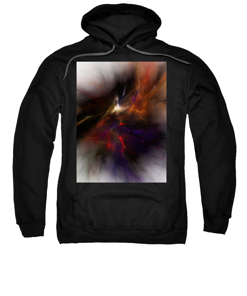Abstract Digital Painting Sweatshirt featuring the digital art Birth Of A Thought by David Lane