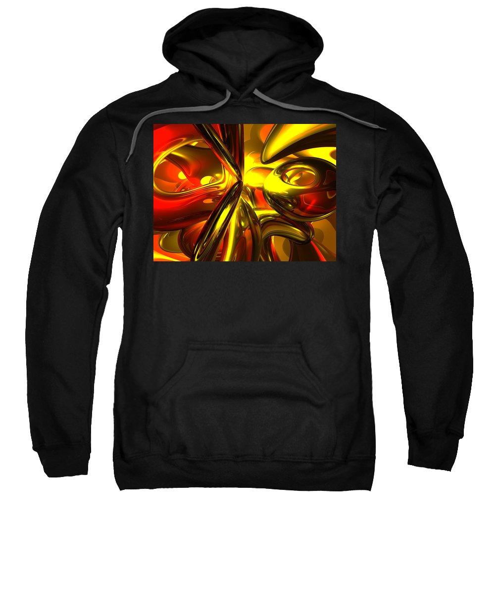 3d Sweatshirt featuring the digital art Bittersweet Abstract by Alexander Butler