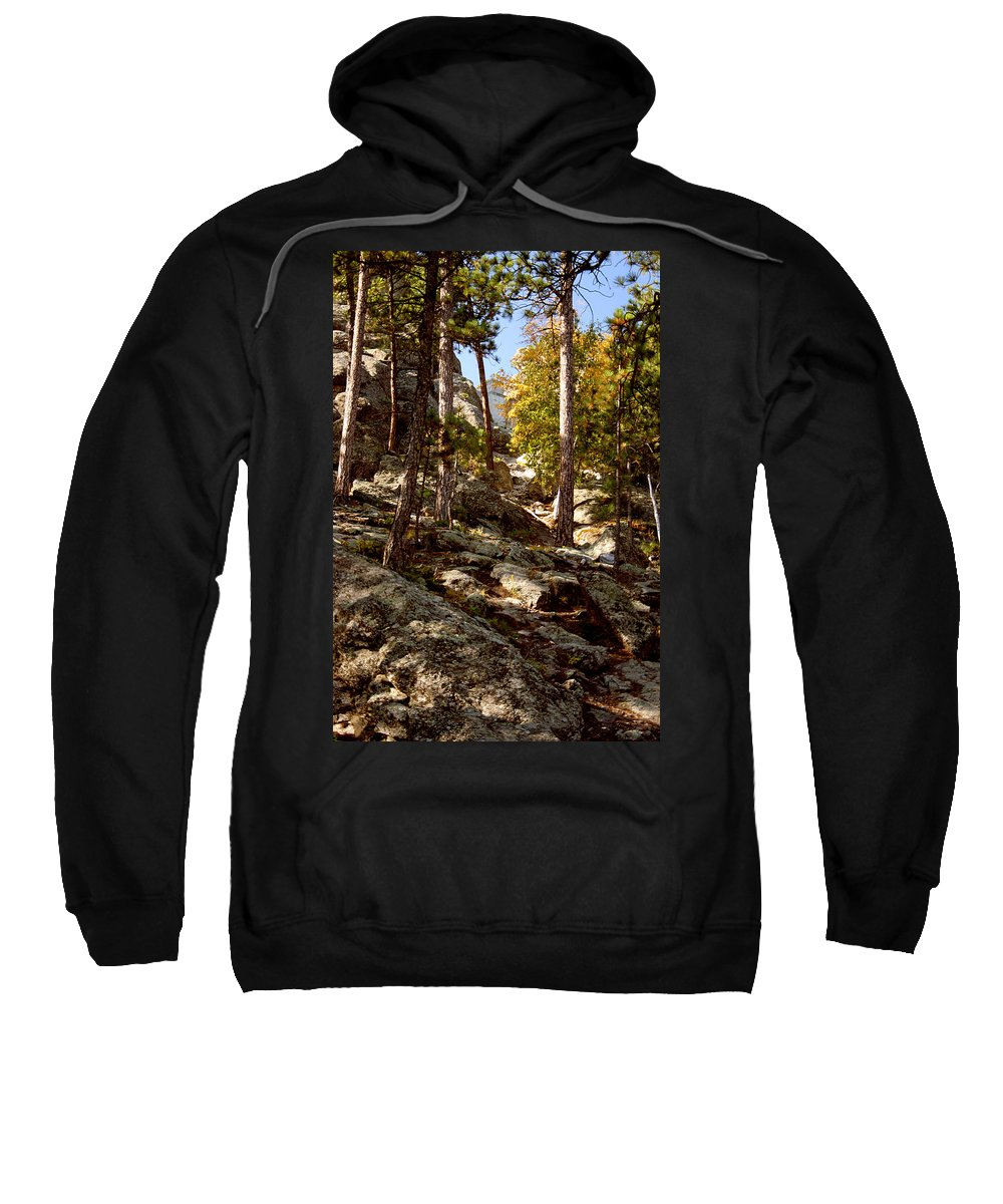Mount Rushmore Sweatshirt featuring the photograph Blach Hills Terrain by Mike Oistad