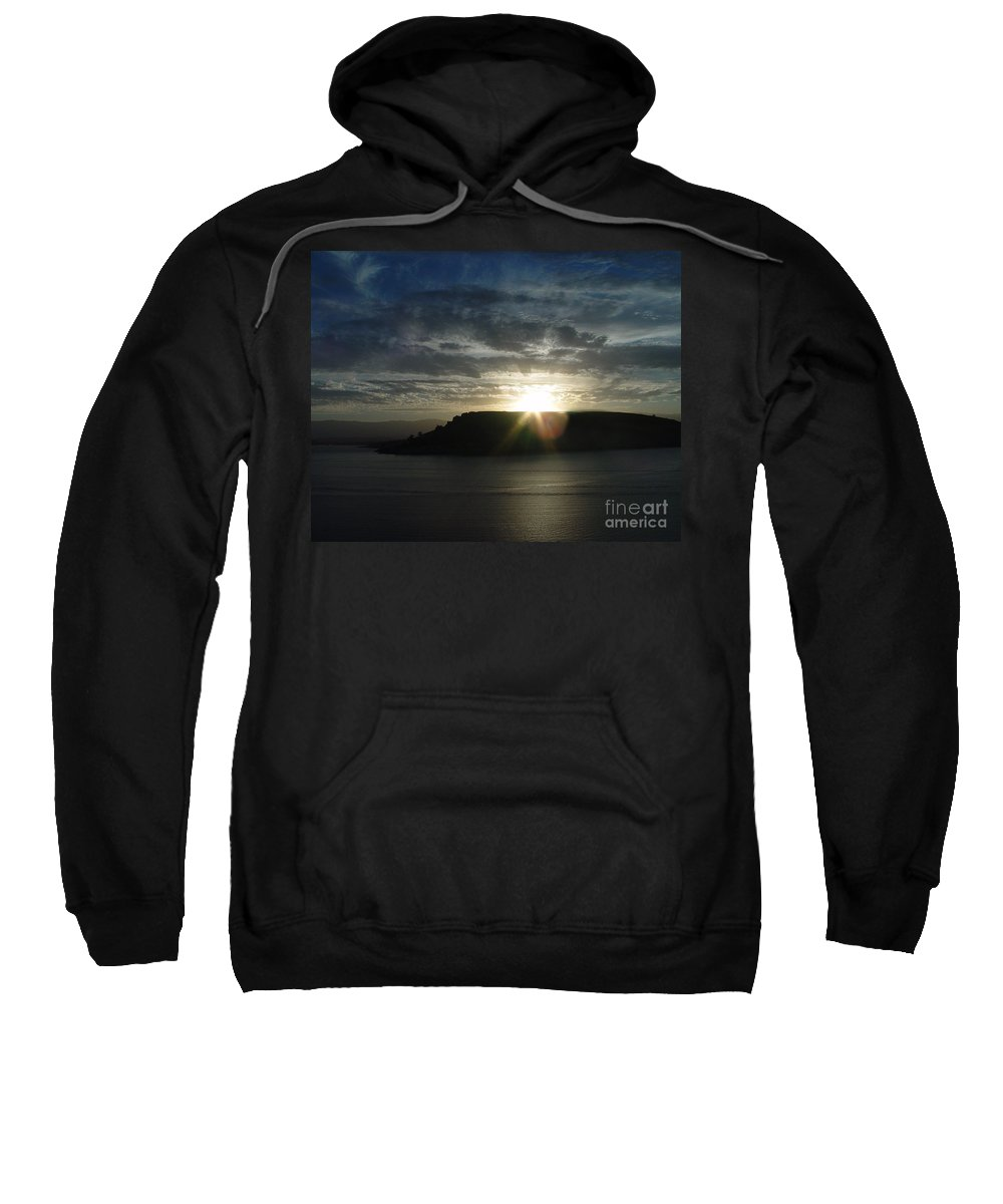 Black Butte Lake Sweatshirt featuring the photograph Black Butte Sunrise by Peter Piatt