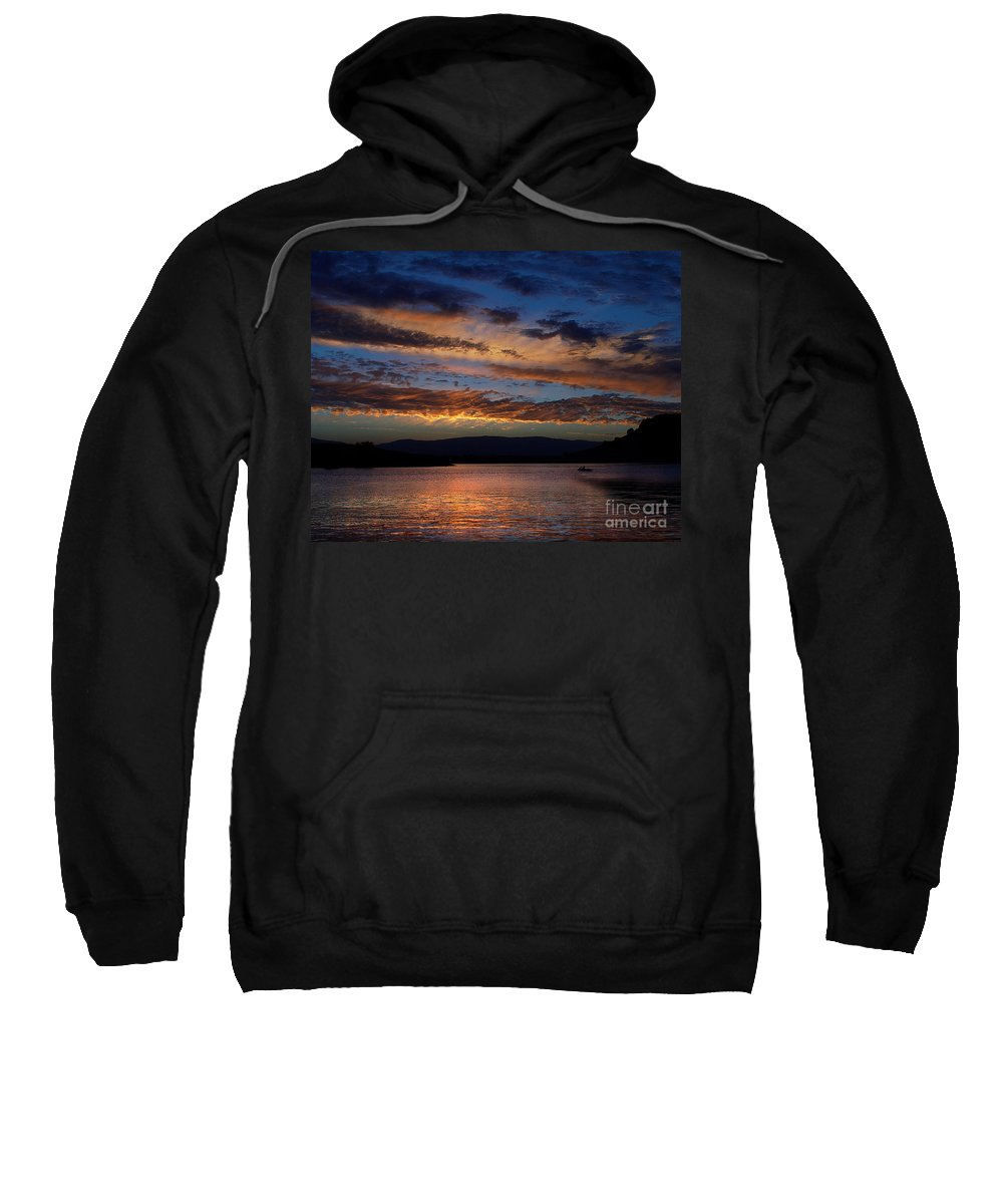Black Butte Sunset Sweatshirt featuring the photograph Black Butte Sunset by Peter Piatt