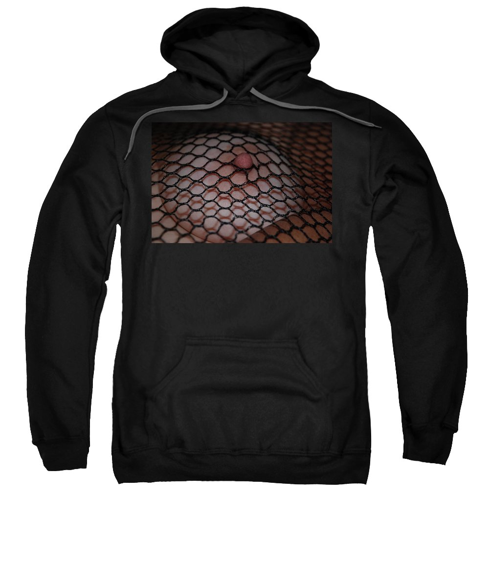 Sexy Sweatshirt featuring the photograph Black Fishnet by Rob Hans