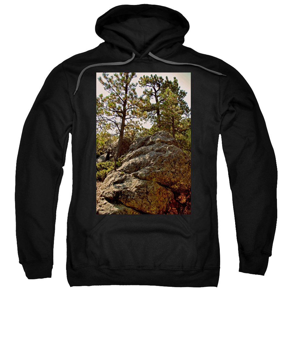 Mount Rushmore Sweatshirt featuring the photograph Black Hills Boulders by Mike Oistad