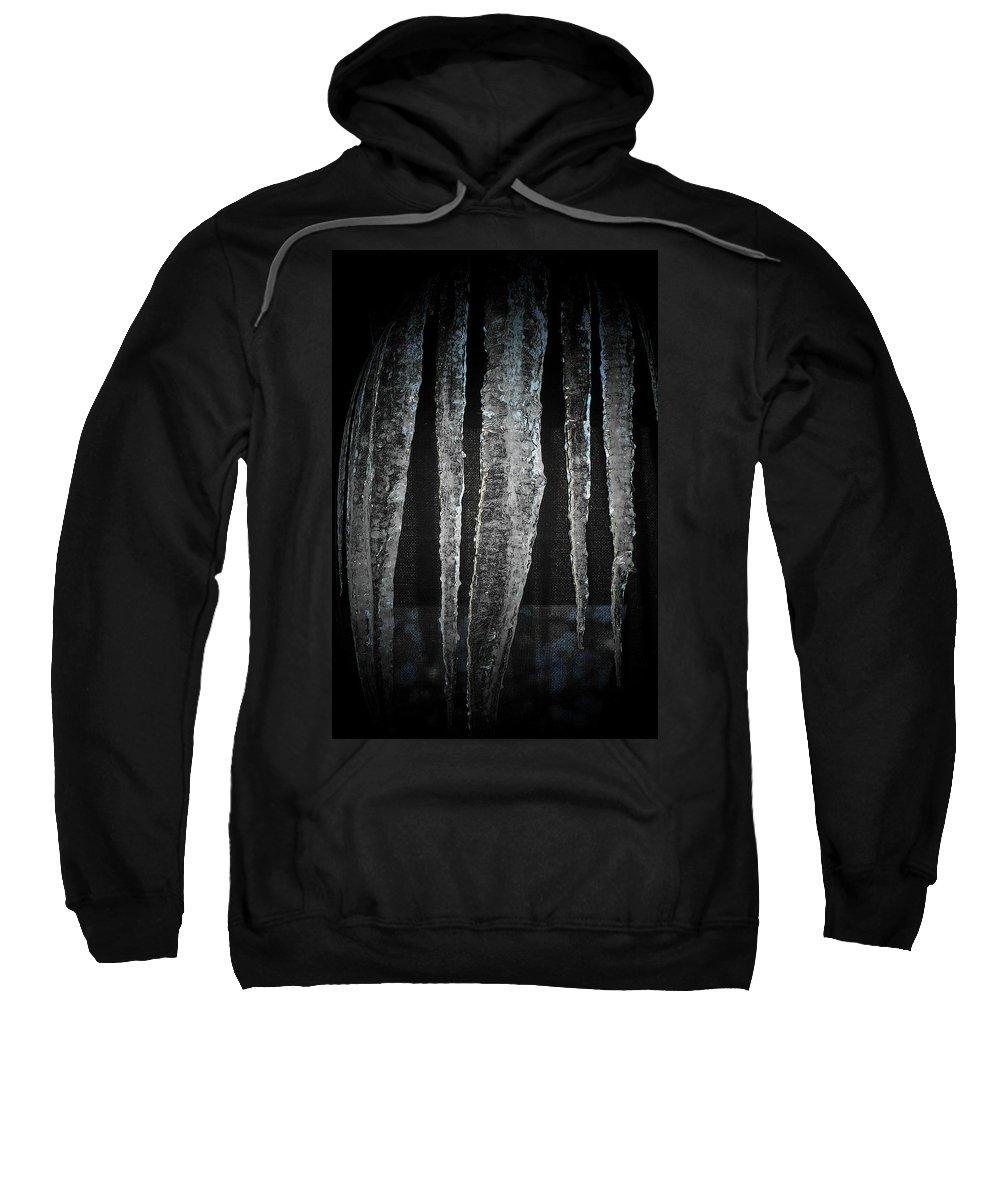 Photography Sweatshirt featuring the digital art Black Ice by Barbara S Nickerson