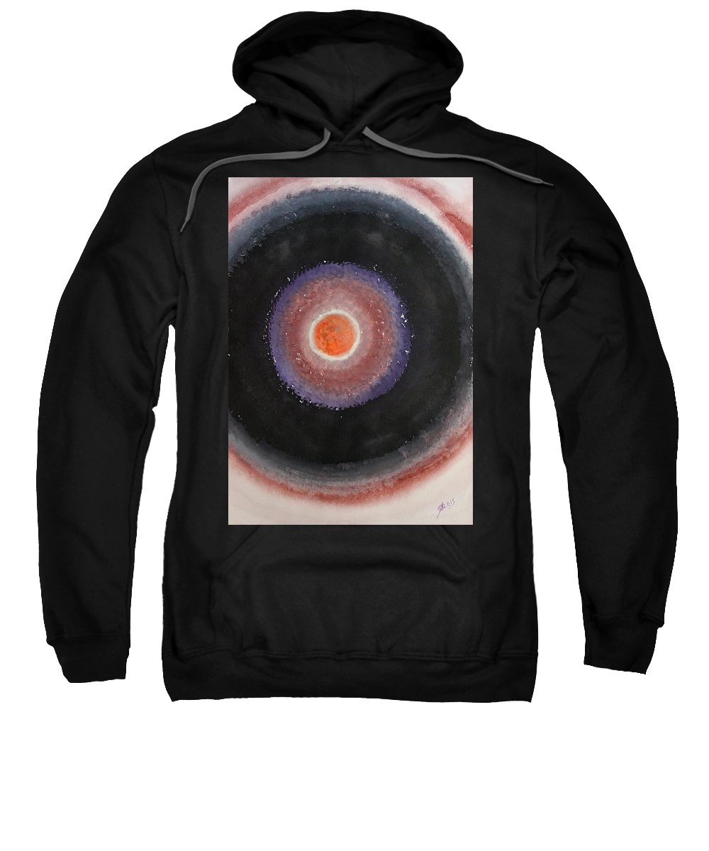 Black Moon Sweatshirt featuring the painting Black Moon Day Original Painting by Sol Luckman
