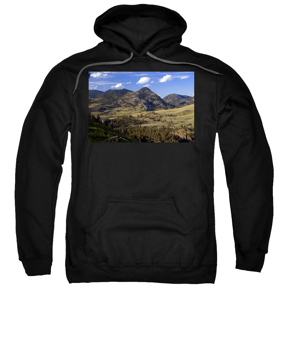 Yellowstone National Park Sweatshirt featuring the photograph Blacktail Road Landscape 2 by Marty Koch