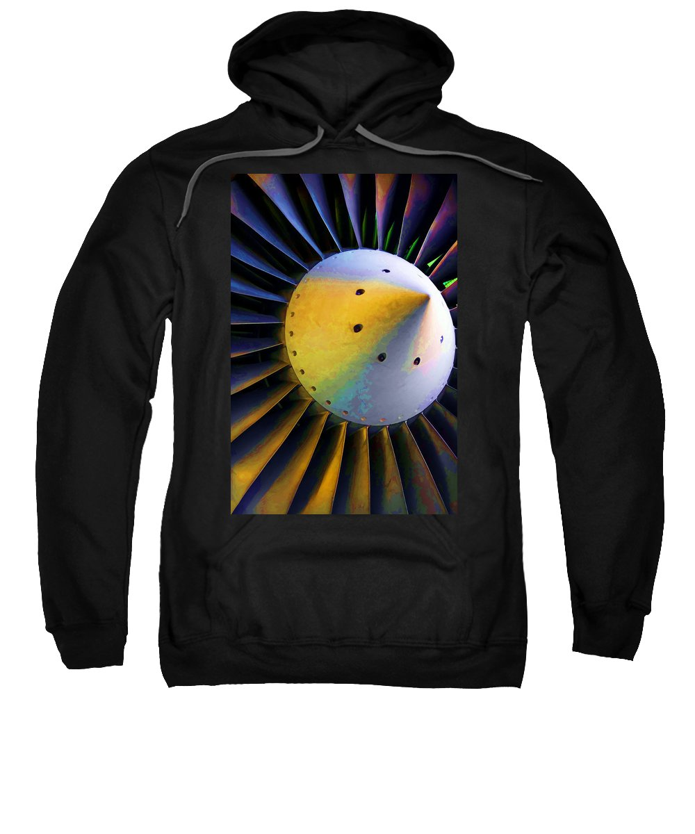 Airplane Sweatshirt featuring the photograph Blades Of Fury by Ricky Barnard