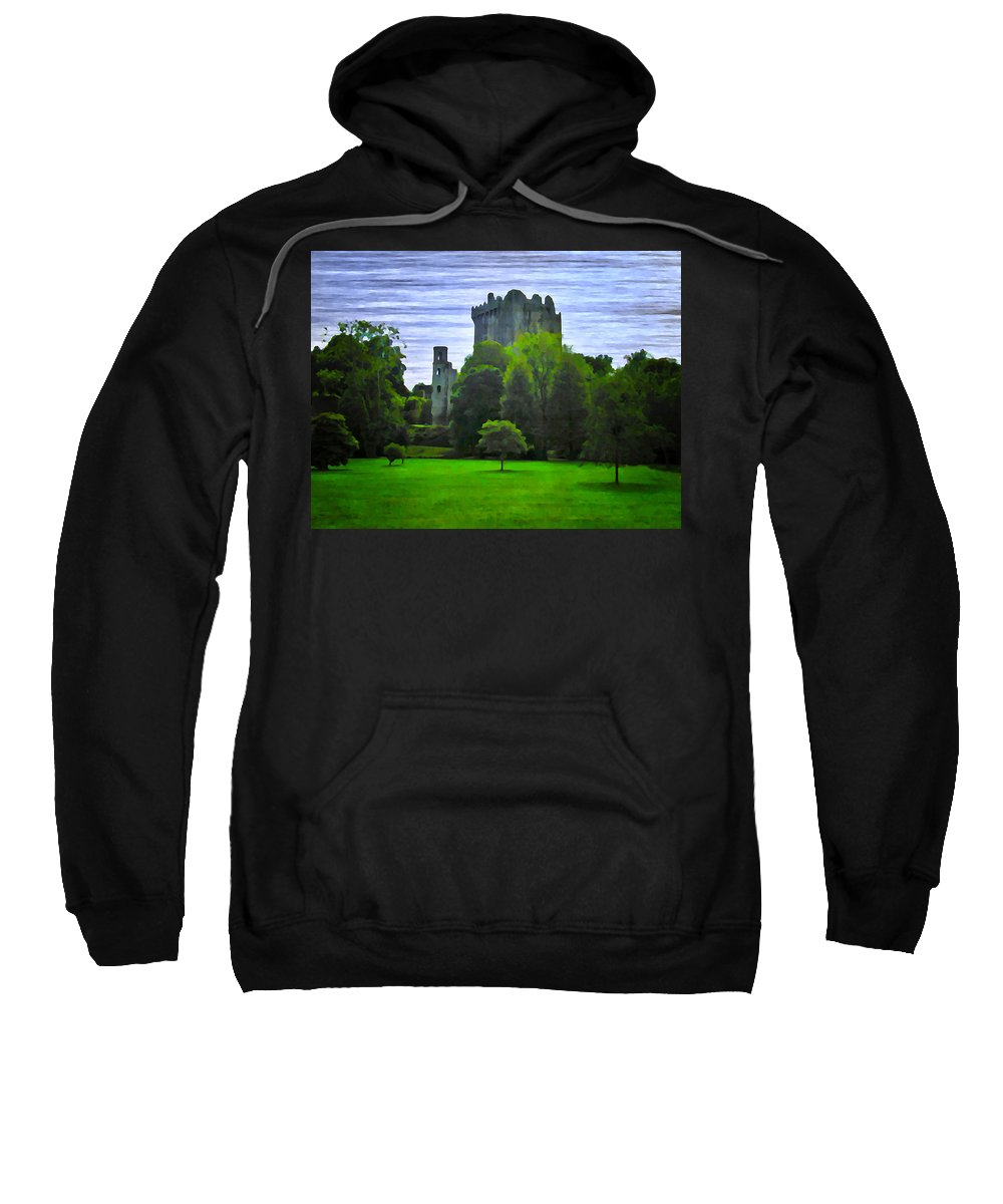 Blarney Castle Sweatshirt featuring the photograph Blarney Castle Ireland by Bill Cannon