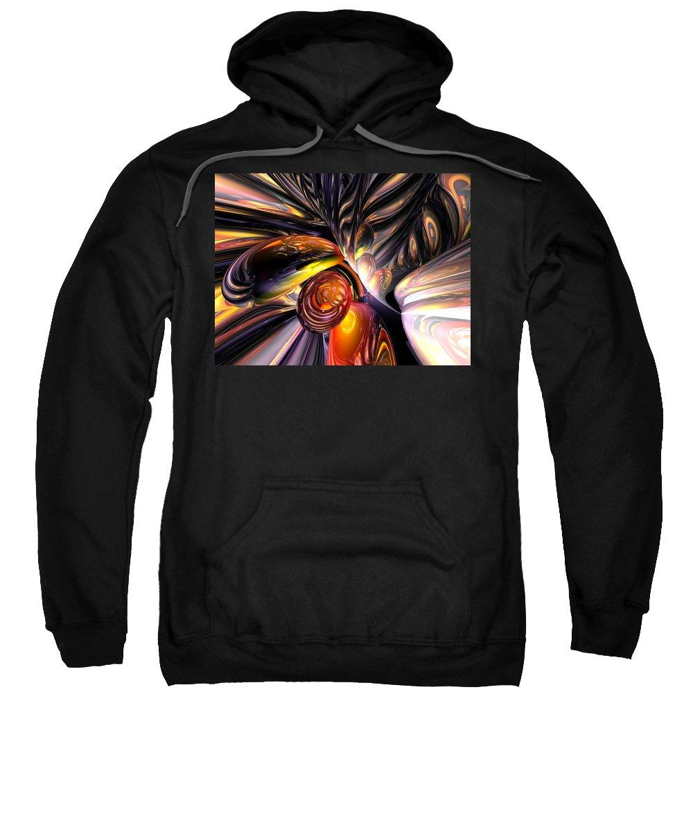 3d Sweatshirt featuring the digital art Blaze Abstract by Alexander Butler