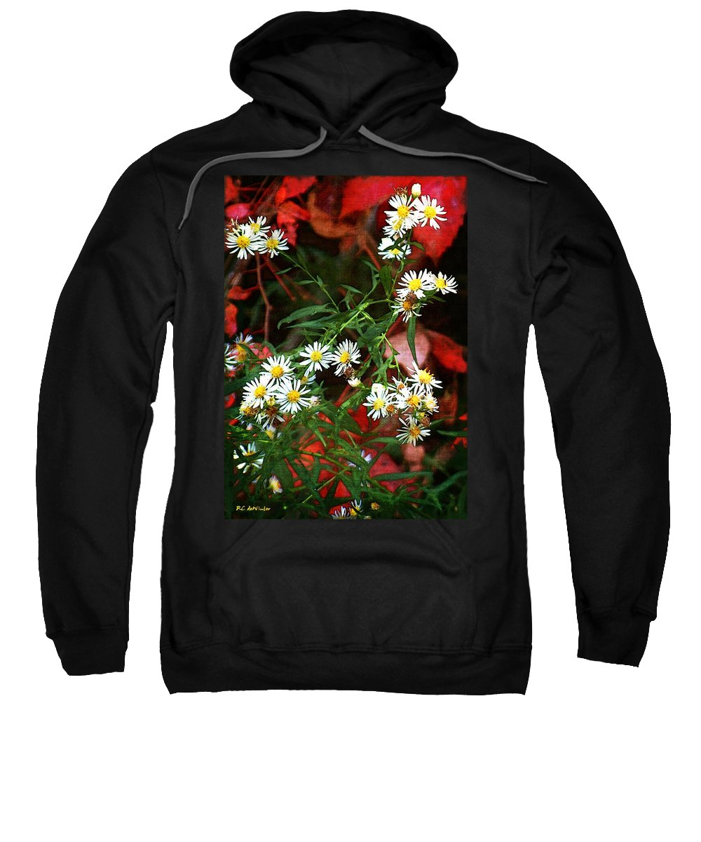 Asters Sweatshirt featuring the painting Blazing In Scarlet Battalions by RC DeWinter