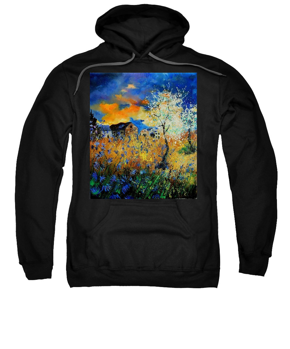 Poppies Sweatshirt featuring the painting Blooming Trees by Pol Ledent