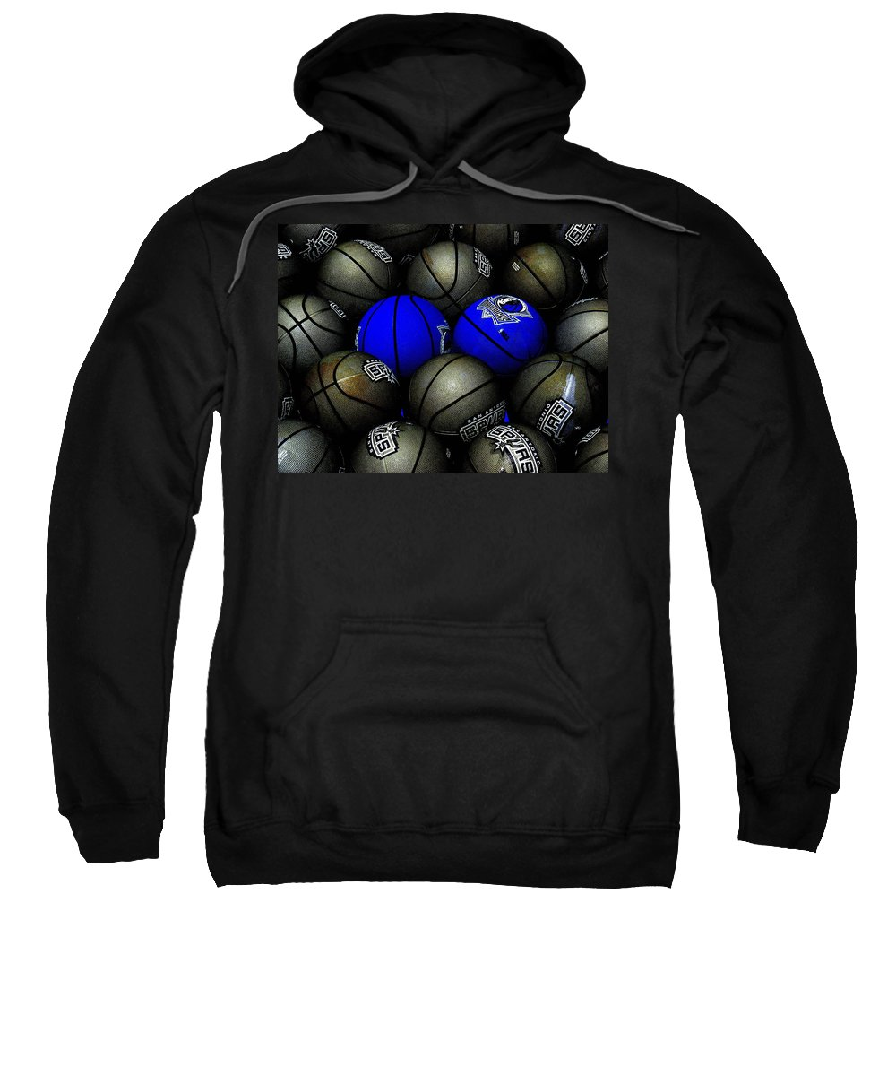 Basketball Sweatshirt featuring the photograph Blue Balls by Ed Smith