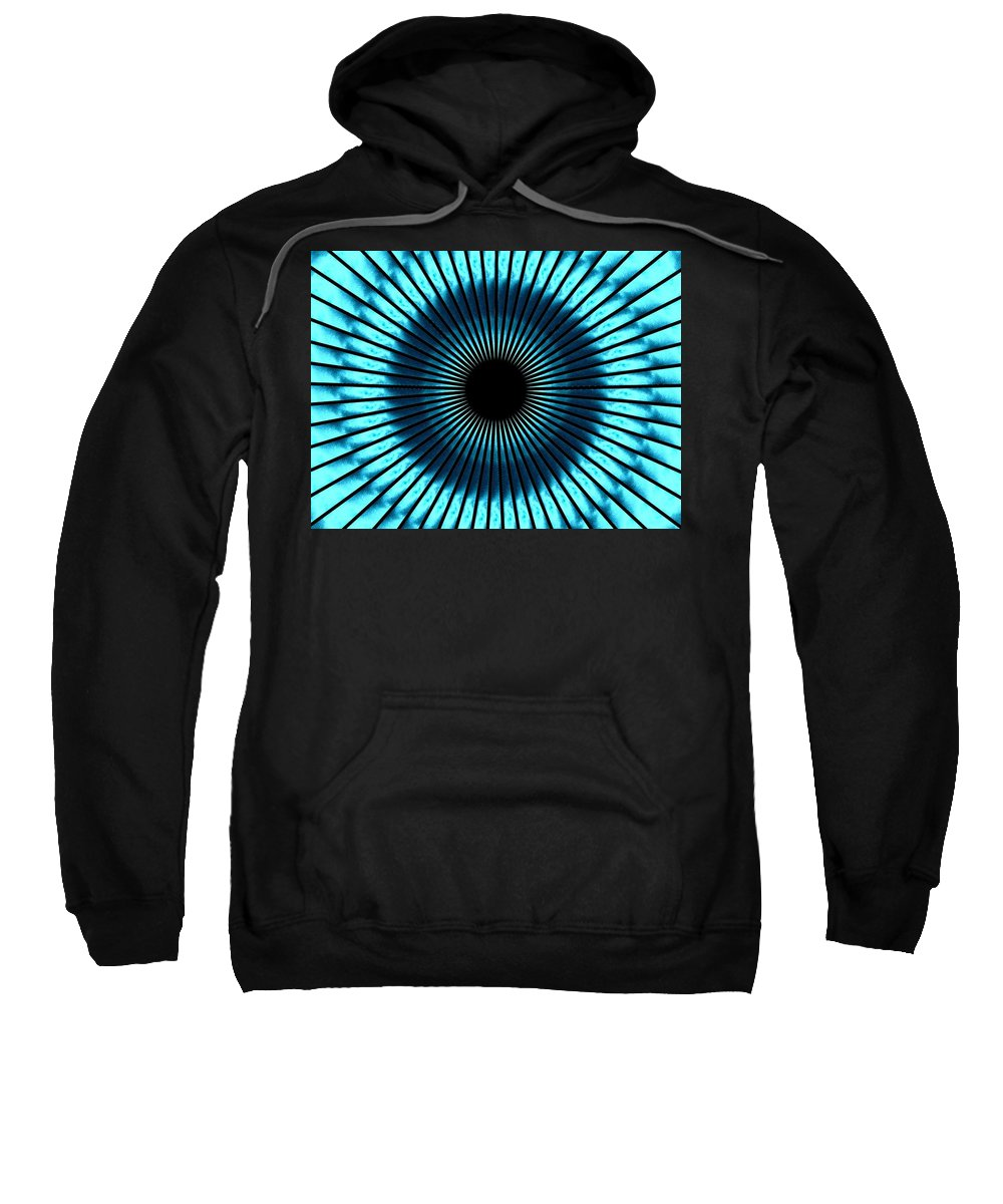 Blue Sweatshirt featuring the digital art Blue Eye by Charleen Treasures