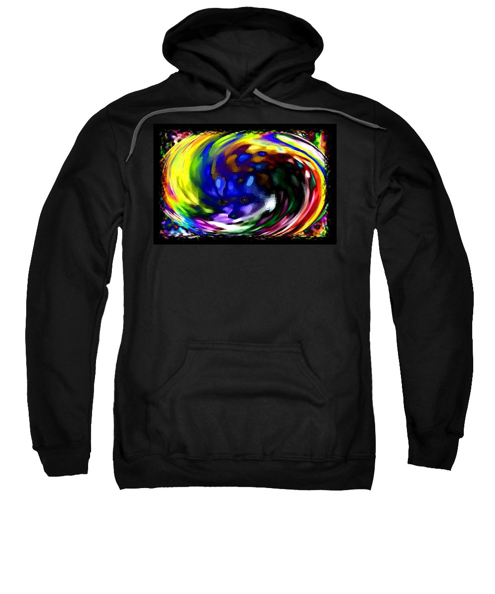 Abstract Sweatshirt featuring the digital art Blue Fox by Will Borden