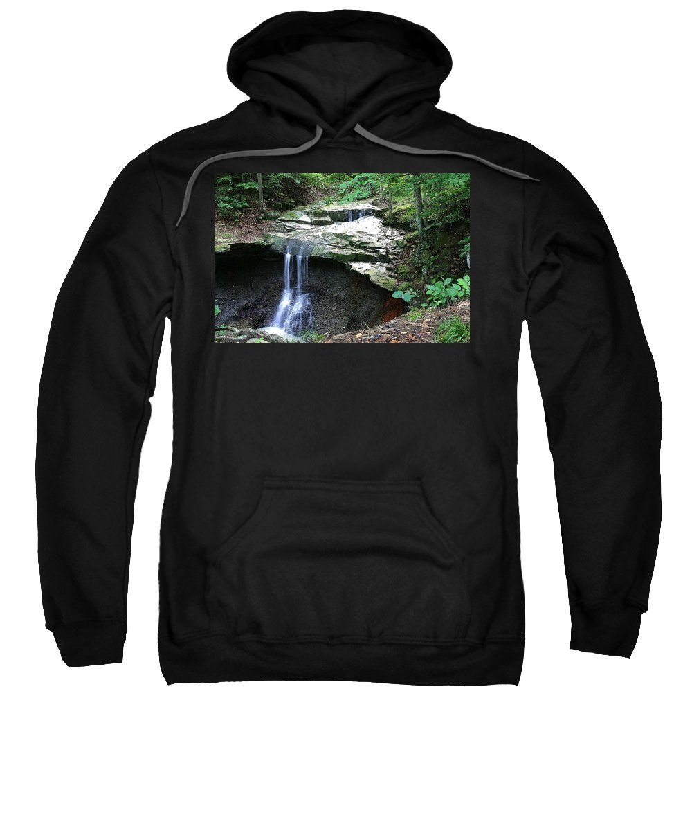 Waterfall. Water Sweatshirt featuring the photograph Blue Hen Falls by Nelson Strong