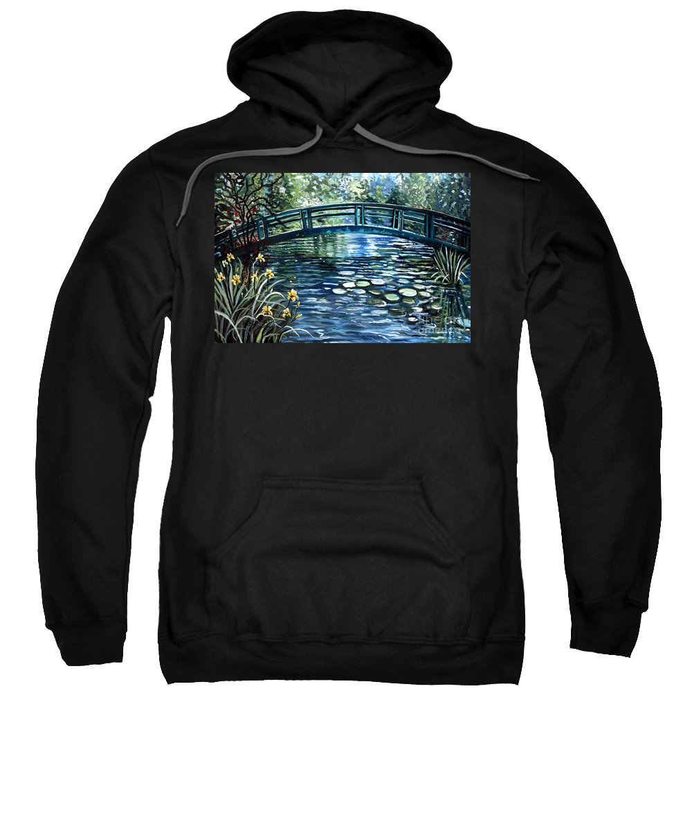 Impressionistic Sweatshirt featuring the painting Blue Lagoon by Elizabeth Robinette Tyndall