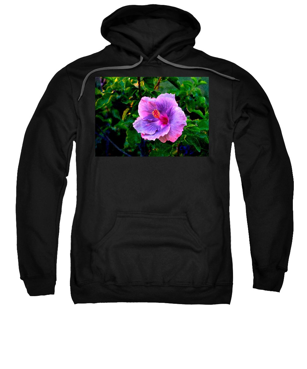 Flower Sweatshirt featuring the photograph Blue Moon Hibiscus by Steve Karol