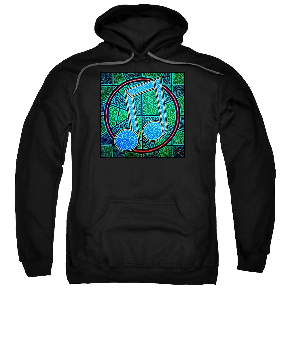 Music Sweatshirt featuring the painting Blue Note by Jim Harris