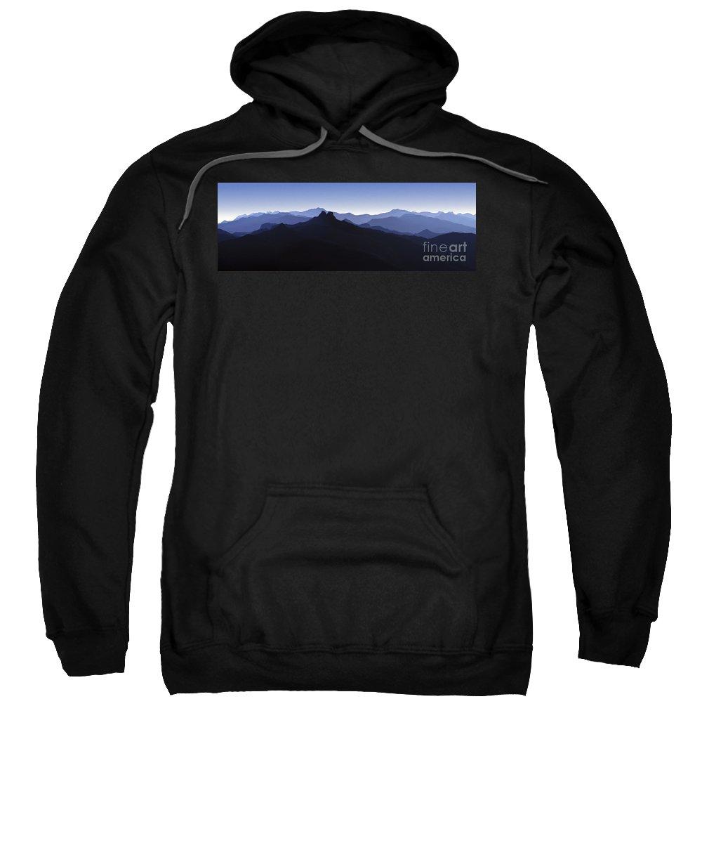 Blue Ridge Mountains Sweatshirt featuring the photograph Blue Ridge Mountains. Pacific Crest Trail by David Zanzinger