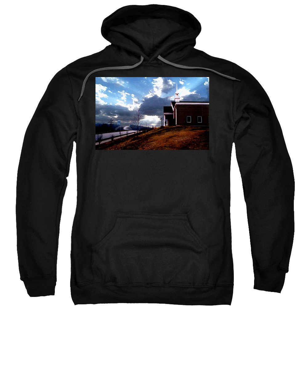 Landscape Sweatshirt featuring the photograph Blue Springs Landscape by Steve Karol
