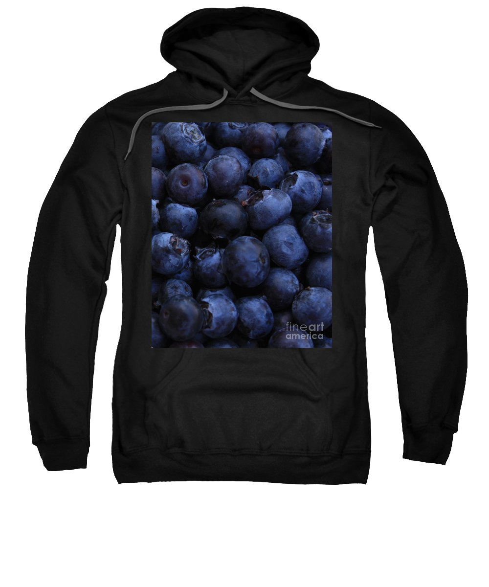 Blueberries Sweatshirt featuring the photograph Blueberries Close-up - Vertical by Carol Groenen