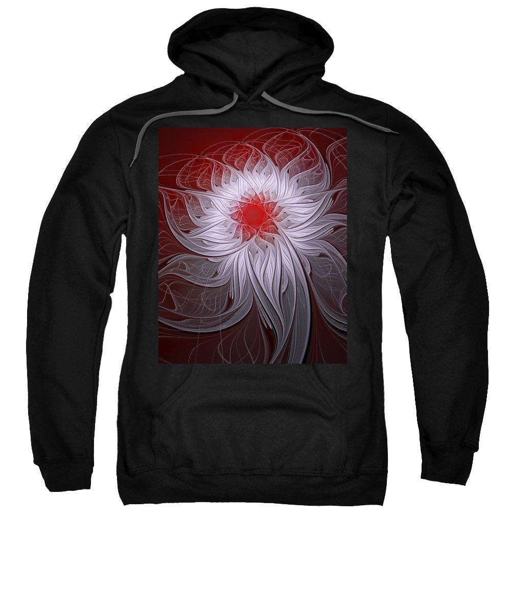 Digital Art Sweatshirt featuring the digital art Blush by Amanda Moore