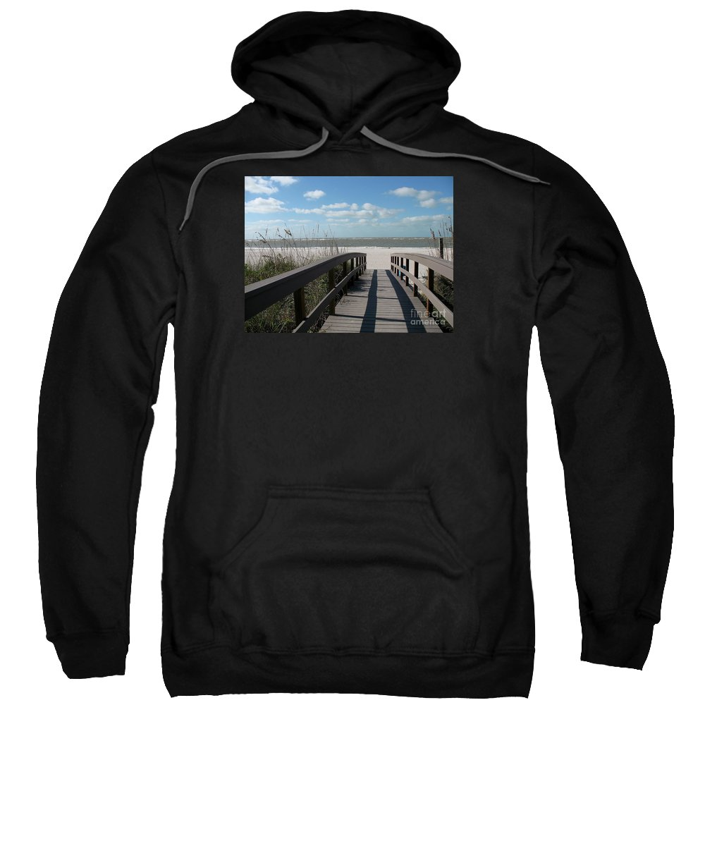 Boardwalk Sweatshirt featuring the photograph Boardwalk To The Beach by Christiane Schulze Art And Photography