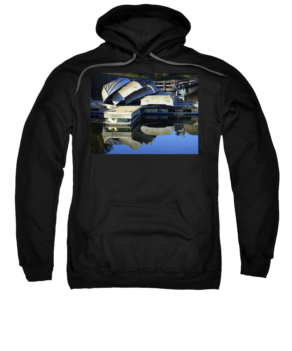 Water Sweatshirt featuring the photograph Boating Incident by Donna Blackhall