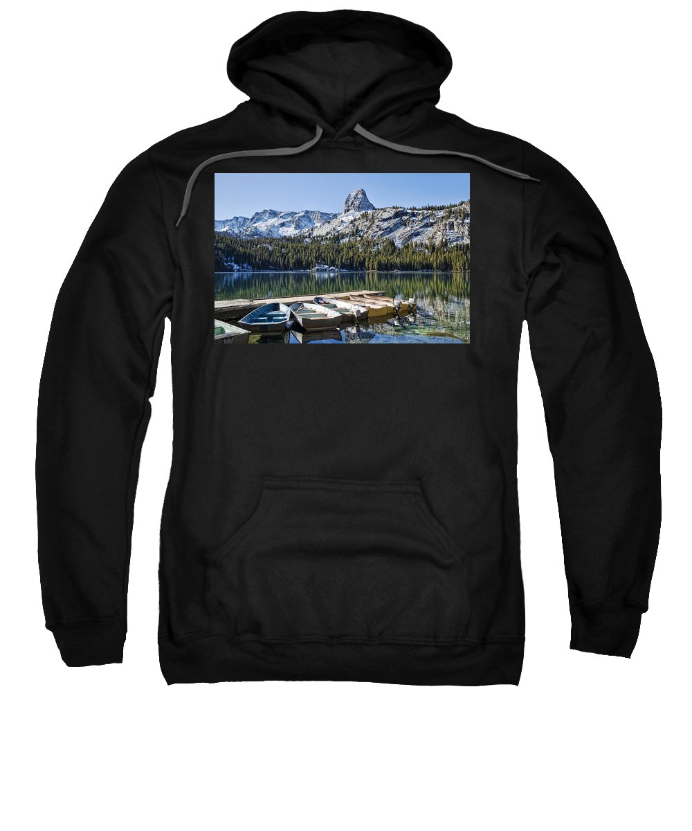 Water Sweatshirt featuring the photograph Boats At Dock by Kelley King