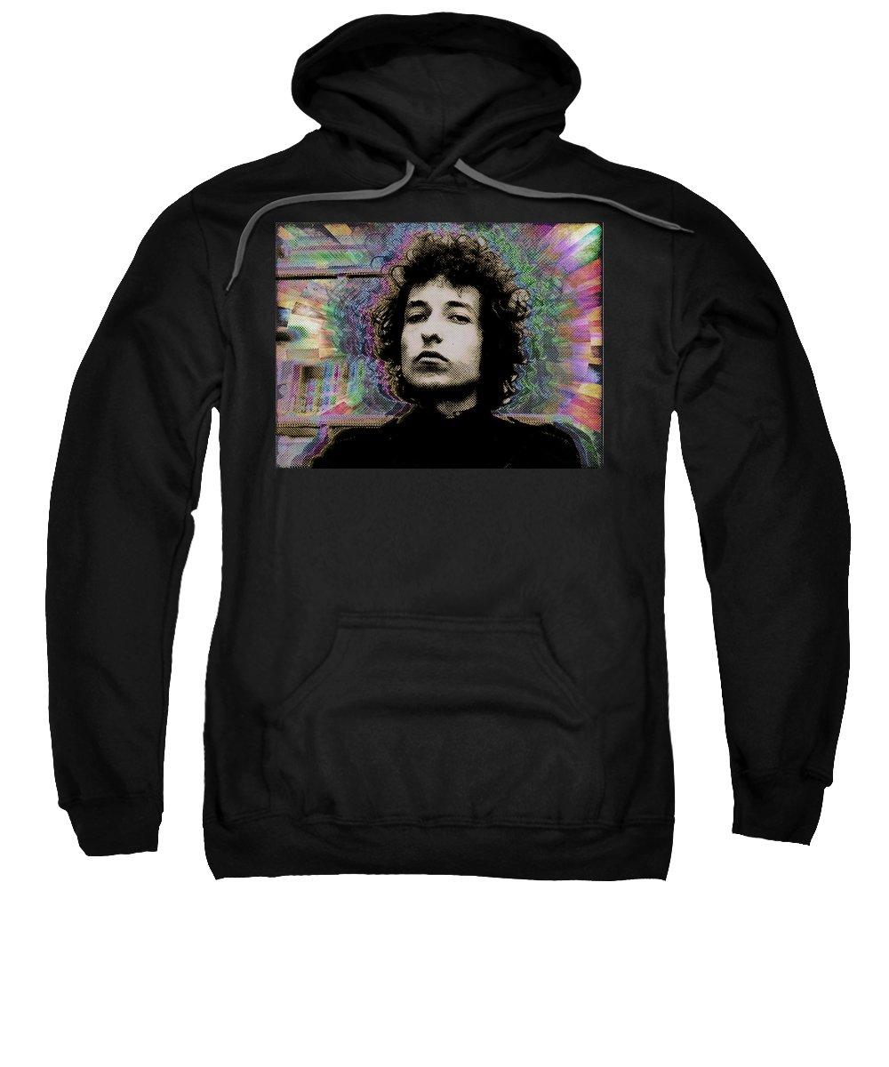 Bob Dylan Sweatshirt featuring the painting Bob Dylan 6 by Tony Rubino