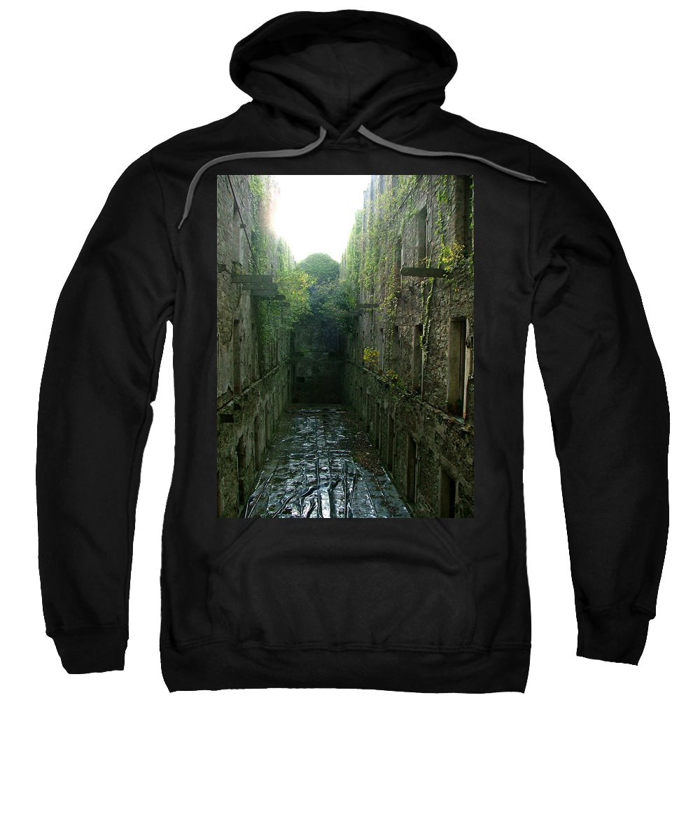 Bodmin Sweatshirt featuring the photograph Bodmin Gaol by Heather Lennox