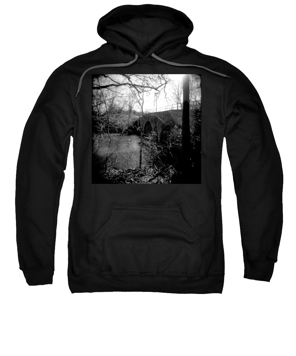 Photograph Sweatshirt featuring the photograph Boiling Springs Bridge by Jean Macaluso