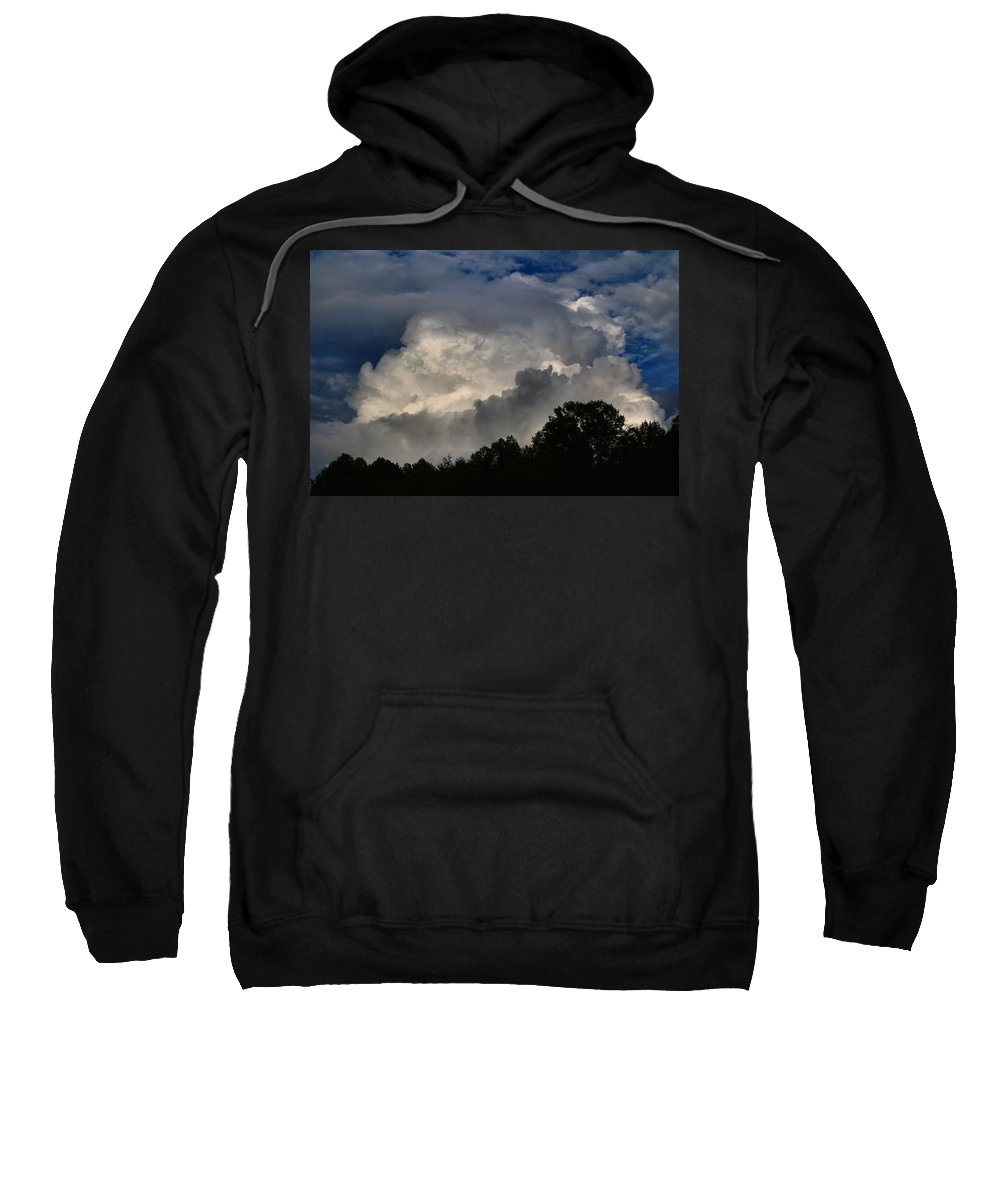 Clouds Sweatshirt featuring the photograph Boiling Up by Kathryn Meyer