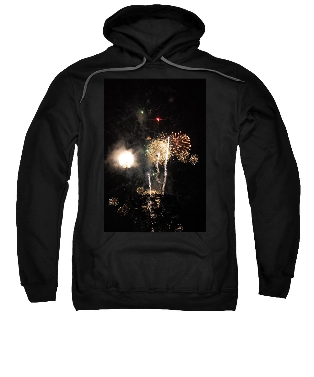 Firwworks Sweatshirt featuring the photograph Bombs1 by David Lane