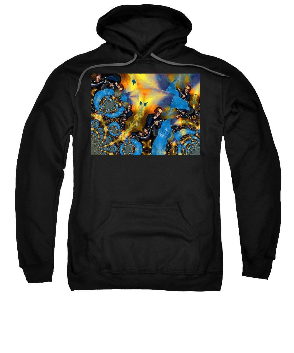 Music Sweatshirt featuring the painting Bonamassa Mania by Miki De Goodaboom